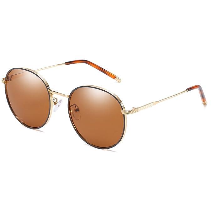 Bmeigo Runde Sonnenbrille Damen, Herren Steampunk Retro Metallrahmen Frau Brillen UV-Schutz Unisex Gläser