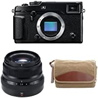 Fujifilm X-Pro2 Body Professional Mirrorless Camera (Black) + Fujinon XF35mmF2 R WR + Domke F-5XB Camera Bag