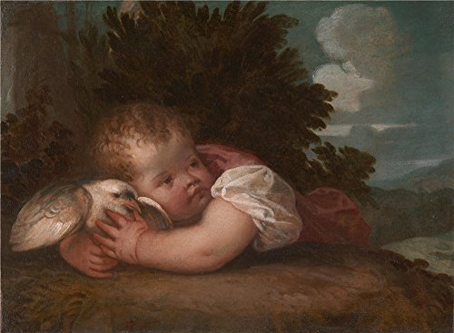Oil Painting 'Titian Or Titian Workshop A Boy With A Bird', 8 x 11 inch / 20 x 28 cm , on High Definition HD canvas prints is for Gifts And Basement, Gym And Home Office Decoration, sale