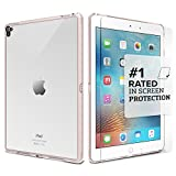 iPad Pro 9.7 Case - SaharaCase® Protective Kit (Rose Gold Clear) + [ZeroDamage® Tempered Glass Screen Protector] Rugged Slim Cover [Shock-Absorbing Reinforced Bumper] Scratch-Resistant Hard Back