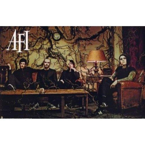 (Buyartforless AFI Group Sitting on Couch 36x24 Art Print Poster Wall Decor Hardcore Punk Horror Rock A Fire Inside)