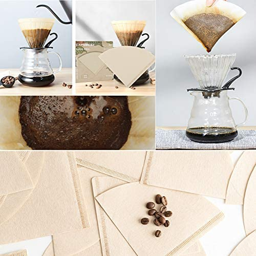 V60 clear out, Cone Coffee Filters, Coffee Filters #2 Cone Paper, 1-4 Cup Natural Paper Coffee Filter, 40 Count Disposable Coffee Filters (1-4 cup)