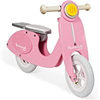 Janod Mademoiselle Bicicleta Scooter para Niño, Niñas, Rosa, Unico