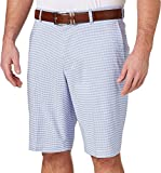 Walter Hagen Men's Perfect 11 Gingham Golf Shorts (Periwinkle, 34)