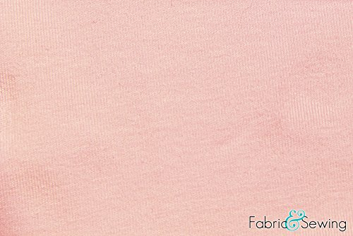 Pale Pink Jersey Fabric 4 Way Stretch Combed Ring Spun, CPRS Cotton Spandex Lycra 10 Oz 58-60