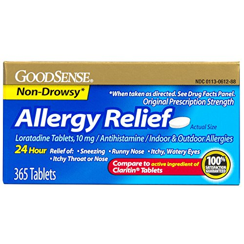 GoodSense Allergy Relief Loratadine Tablets, 10 mg, 365 Count