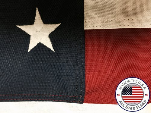 HEAVY-DUTY American Flag 4×6′ – 100% Made in the USA – Durable, Long Lasting, Rich Polyester Material – Densely Embroidered Stars, Sewn Stripes with Lock Stitching, Four Rows of Lock Stitching on the Fly End, Tough Enough for Daily Commercial and High Wind Usage, the Best US Flag You Will Own – By All Star Flags Review