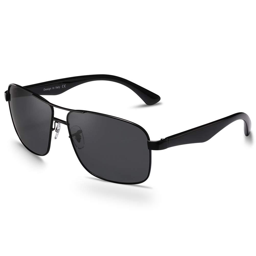 Carfia Gafas de Sol Polarizadas de Estilo Aviador Retro Metal de UV400 Protección para Deporte y Aire Libre Ciclismo Conducción Pesca Esquiar Golf Correr