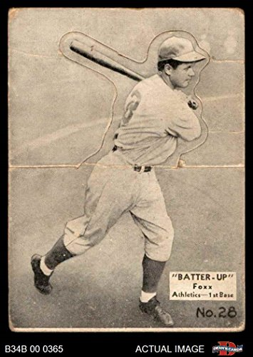Amazoncom 1934 Batter Up 28 Jimmie Foxx Baseball Card