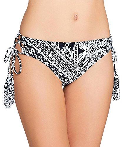 Coco Rave Playa Cool Lace Up Bikini Bottom, XL, Black