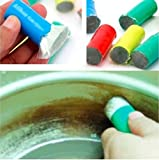 Drhob 2pcs New Magic Stainless Metal Rust Remover Cleaning Decontamination Stick Wash Brush Kitchen Tool( Color : Random)