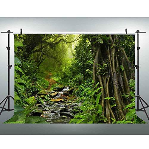 VVM 7x5ft Forest Backdrop Rainforest Photography Background Jungle Theme Baby Shower Decorations Studio Props GYVV734 -