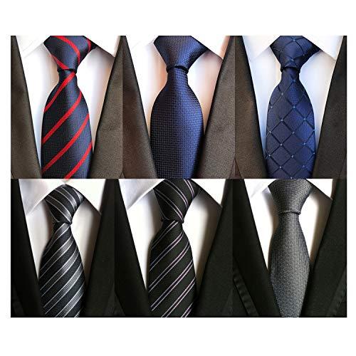 Lot 6 pcs Classic Mens Tie Silk Necktie Woven Jackquard Neck Ties + Gift Box Style 01