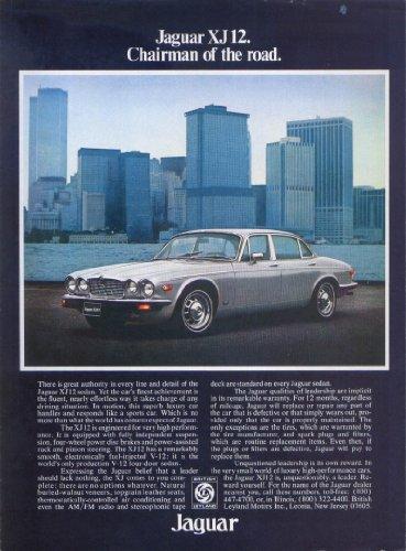 Jaguar XJ12 sedan Chairman of the road ad 1977