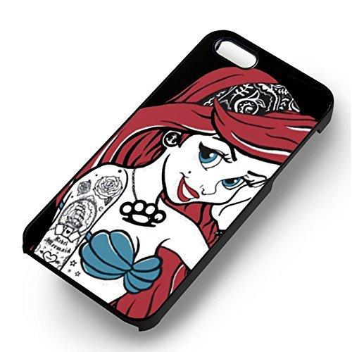 Ariel Tattoo Punk pour Coque Iphone 6 et Coque Iphone 6s Case (Noir Boîtier en plastique dur) W6Z6XH