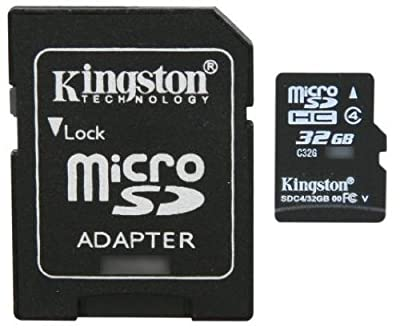 Professional Kingston MicroSDHC 32GB (32 Gigabyte) Card for ViewSonic ViewPad E100 Tablet Phone with custom formatting and Standard SD Adapter. (SDHC Class 4 Certified)