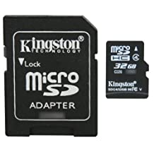 Professional Kingston MicroSDHC 32GB (32 Gigabyte) Card for Kodak EasyShare C633 Camera Phone with custom formatting and Standard SD Adapter. (SDHC Class 4 Certified)