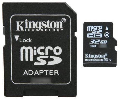 Professional Kingston MicroSDHC 32GB (32 Gigabyte) Card for LG Optimus Zip Phone with custom formatting and Standard SD Adapter. (SDHC Class 4 (Kingston Zip)