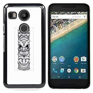 - totem pole native American Indian - - Modelo de la piel protectora de la cubierta del caso FOR LG Google Nexus 5X RetroCandy