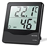 ORIA Digital Hygrometer Thermometer, Indoor Thermometer Humidity Monitor, Temperature Humidity Gauge Meter, with Comfort Indicators, MIN/MAX Records, Switch, for Home, Office, Greenhouse