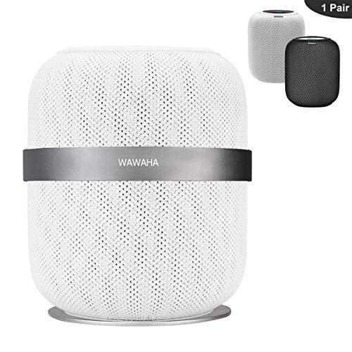 (Wall Mount for HomePod,WAWAHA Sturdy Aluminum Anti-Scroll Stand Holder for HomePod Smart Speaker - Gray)