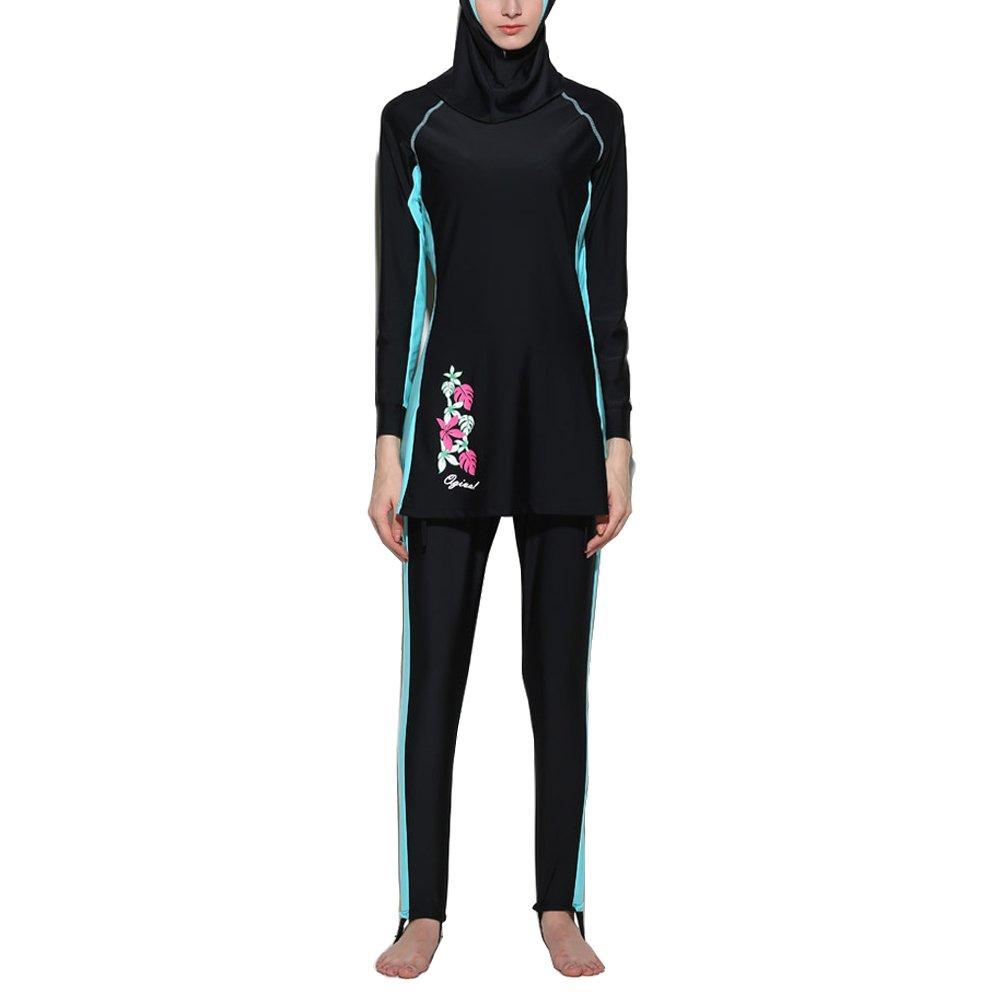 Zhhlinyuan Fashion Muslims Swimwear for Women Girls Modest Hijab Burkini 水着s B01MSJM4L5 XXL ブルー