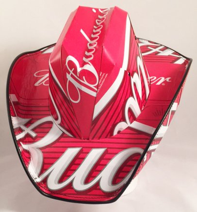 Beer Box Cowboy Hat Made From Recycled Budweiser Beer Boxes  Amazon.co.uk   Kitchen   Home c94db58a0eb