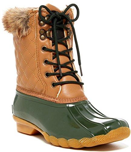 Plunge Arctique Femmes Quilty Boot Tan-vert