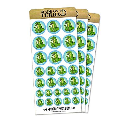 Happy Alligator Removable Matte Sticker Sheets Set -