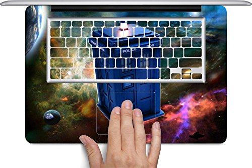 Dr Who Macbook Full Keyboard Vinyl Decal Skin (Fits 13 inch) by Compass Litho