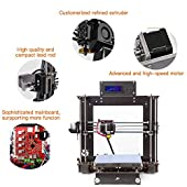 3D Printer I3 High Precision Large Size Desktop 3D Printer Kit Reprap Prusa I3 DIY Self-Assembly LCD Screen PLA/ABS Filament 1.75MM DIY 3D Printer (Platform Size 220x220x240)