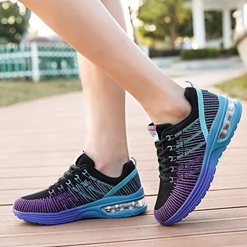 Cojines Sneakers Zapatos Mujer Con Deportivas De 35 Para Volar 41 Zapatillas Deporte Estudiante Calzado Running Logobeing Morado Tejidos Aire Net Gimnasia 861 nIqFpT