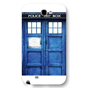 - Customized Black Frosted Samsung Galaxy Note 2 Case, Doctor Who Tardis Blue Police Call Box Samsung Note 2 case