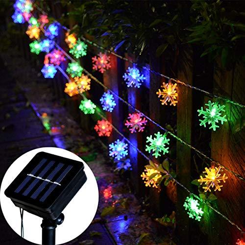 Snowflake Solar Christmas Lights in US - 1