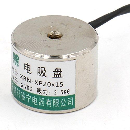 Heschen /Électroaimant Aimant sol/éno/ïde P20//15 diam/ètre ext/érieur: 20/mm DC 6/V 2.5/kg//2,5/kilogram