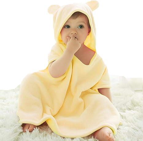 LYX Toalla para Bebé con Capucha, 100% Algodón Antibacterial Y Hipoalergénica Toalla para Bebé para Bebés Y Niños Pequeños,Beige,55 * 60Cm: Amazon.es: Deportes y aire libre
