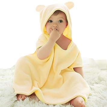 LYX Toalla para Bebé con Capucha, 100% Algodón Antibacterial Y Hipoalergénica Toalla para Bebé para Bebés Y Niños Pequeños,Beige,70 * 80Cm: Amazon.es: ...