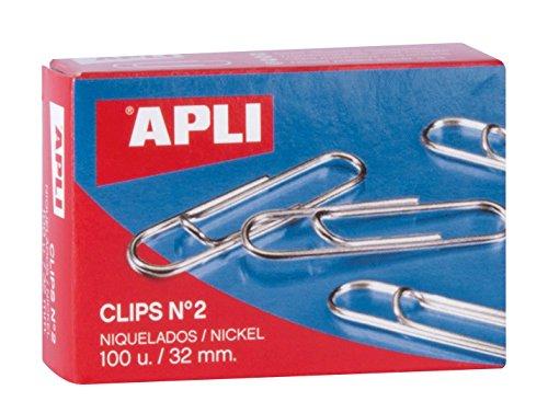APLI 11711 - Clips niquelados nº2 32 mm 10