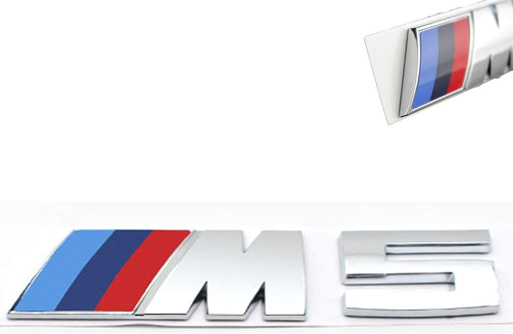 2*M Sport-Boot-Badge//Rear Boot Trunk Badge Emblem Sticker for BMW M Sport 1 3 5