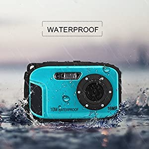 2.7 Inch LCD Cameras 16MP Digital Camera Underwater 10m Waterproof Camera+ 8x Zoom by GordVE