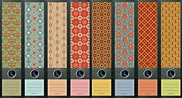 8 archivadores Pattern patrón carpeta vinilo decorativo adhesivo 321 323
