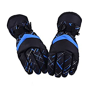 Winter Snow Ski Gloves, HUO ZAO Windproof Breathable Protection Mittens Warm Gloves for Outdoor Cycling Snowboard Hiking Mountain Climbing