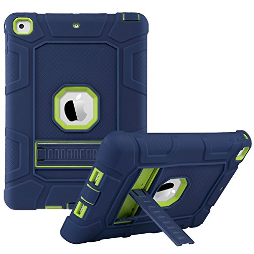 Shockproof Heavy Duty Armor Case for Apple iPad Air 2 (Green) - 5