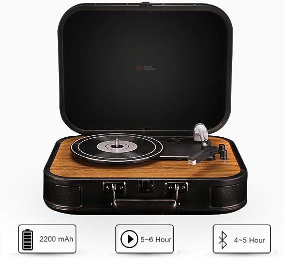 Reproductor de discos de vinilo Estilo vintage Portátil ...