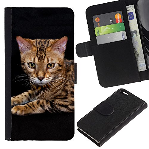 EuroCase - Apple Iphone 6 4.7 - toyger ocicat bengal serengeti cat - Cuir PU Coverture Shell Armure Coque Coq Cas Etui Housse Case Cover