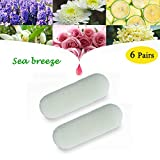 AnnBay Car Air Freshener, Natural Long-Lasting Fresh Fragrance Scents Odor Eliminator Scents for Car Diffuser Vent Clip, 6 Pairs (Car Diffuser Vent Clip Not Included) - Sea Breeze