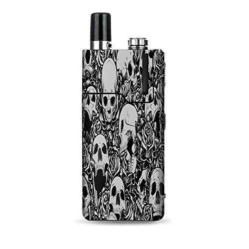 (IT'S A SKIN Decal Vinyl Wrap Compatible with Lost Vape Orion Q/Skulls n Roses Black White Screaming)