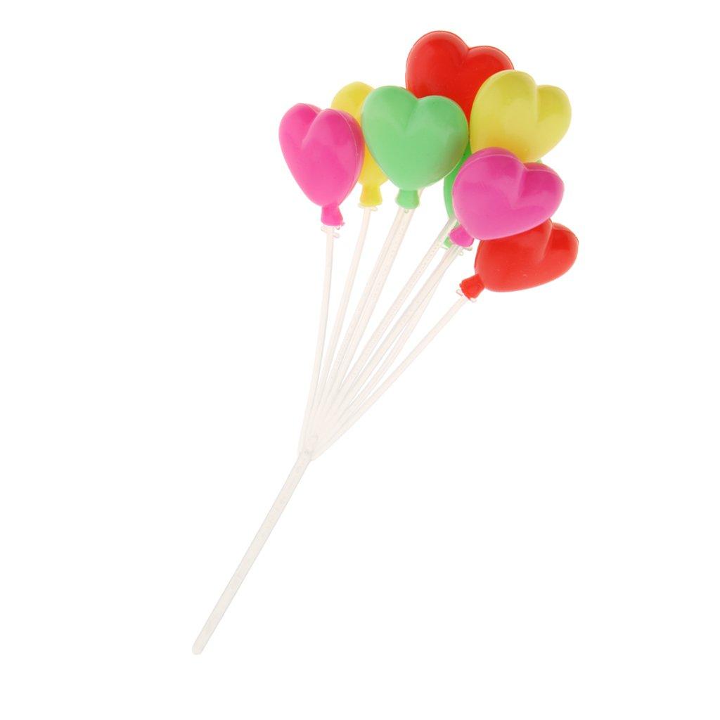 1//12 Puppenhaus Dekoration Mini Ovale//Herzförmig bunte Ballons Luftballons Deko