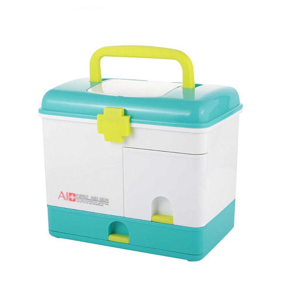+ 2階世帯、旅行家庭薬箱、大容量の応急処置キット薬の収納ボックスでハンドルの大きいポータブル応急処置キット ## (色 : (色 A) : B07KJGBSNB B B B, マーケットアドバンス:daabd980 --- mail.tastykhabar.com