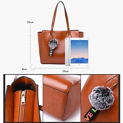 Zaino moda per viaggio messenger marrone donna borsa chiaro Audburn casual a donna tracolla borsa 1 HCRqY